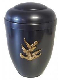 """Urne 0630 Gris foncé avec relief  """"COLOMBES"""""""